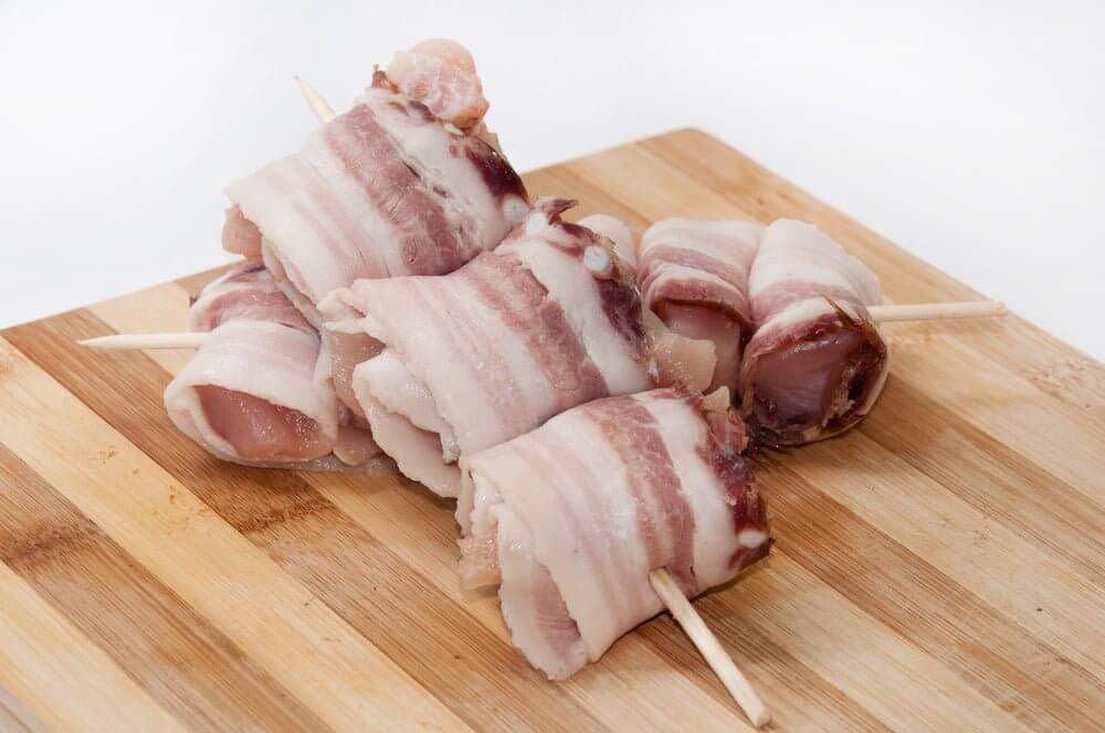 Air Fryer Chicken Wrapped In Bacon