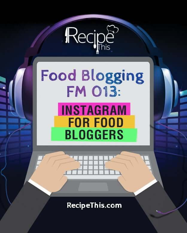 In our 13th food blogging podcast we are talking about instagram and how it can help with your food blog.