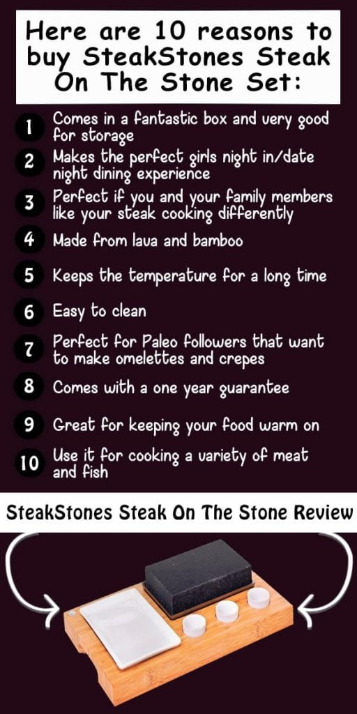 """here is a list of great points about the steakstones"""