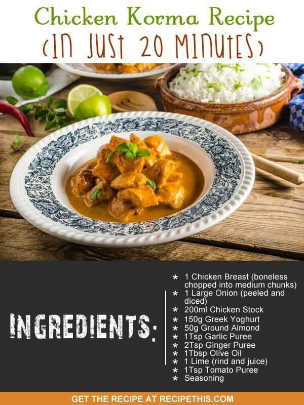 """chicken korma recipe ingredients"""