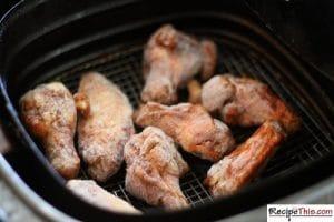 Air Fryer Chicken Wings From Frozen (3 Ways)