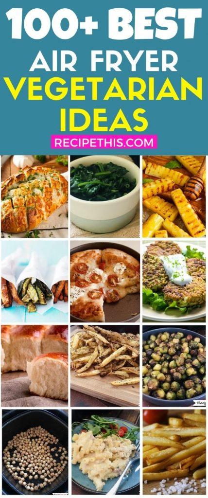 100 plus air fryer vegetarian recipe ideas