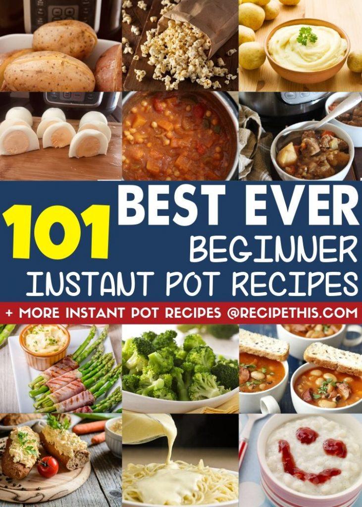 101 best ever beginner instant pot recipes