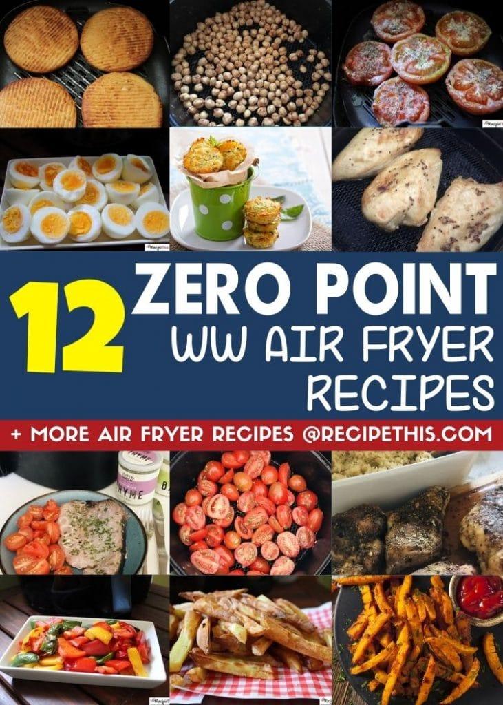 12 zero point weight watchers air fryer recipes