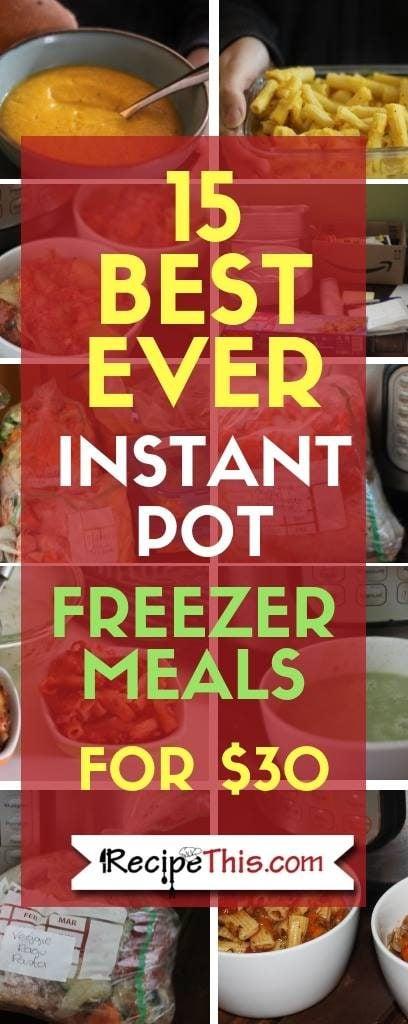 15 Best Ever Instant Pot Freezer Meals