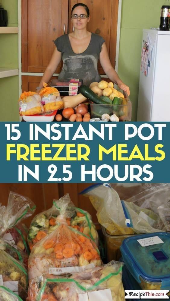 15 Instant Pot Freezer Meals In 2.5 Hours