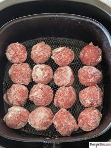 How To Cook Frozen Meatballs In Air Fryer?