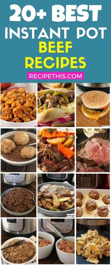 20 plus best instant pot beef recipes