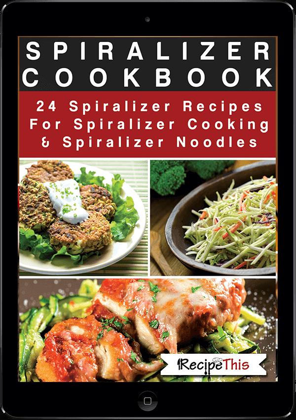 Spiralizer Recipes | Spiralizer Cooking: 24 delicious spiralizer zoodle recipes from RecipeThis.com