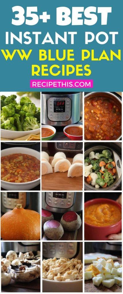 35 plus weight watchers blue plan instant pot recipes