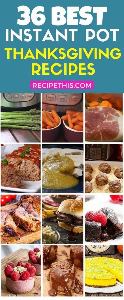 36 best instant pot thanksgiving recipes at recipethis.com