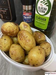 Ninja Foodi Cooking Potatoes
