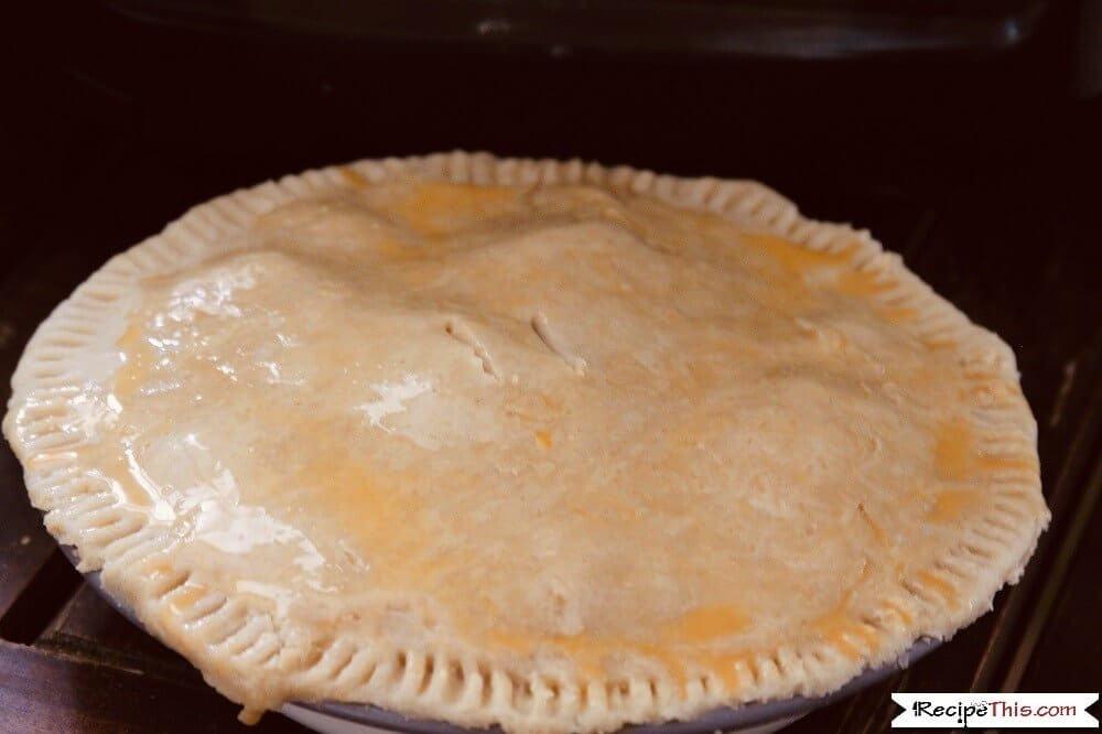 Air Fryer Apple Pie egg wash