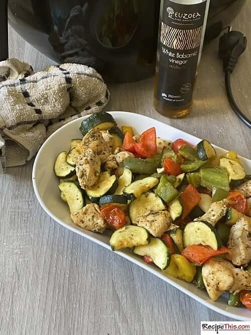 Air Fryer Balsamic Chicken & Vegetables