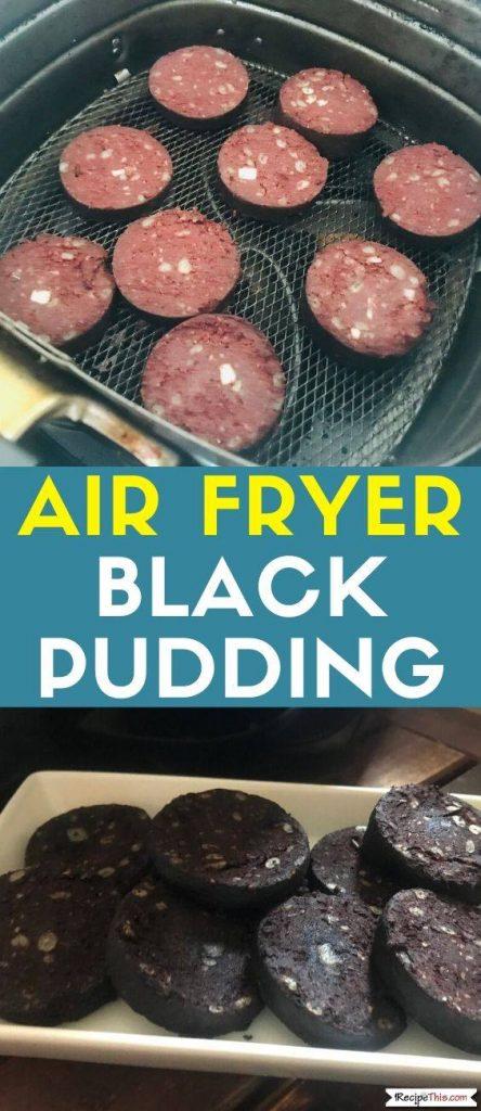 Air Fryer Black Pudding recipe