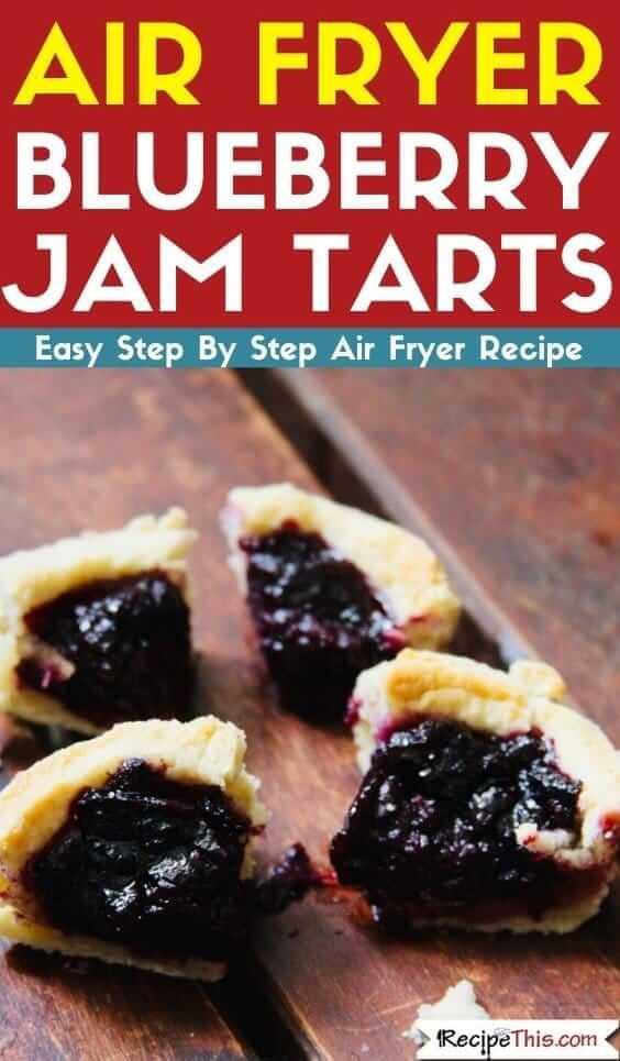 Air Fryer Blueberry Jam Tarts