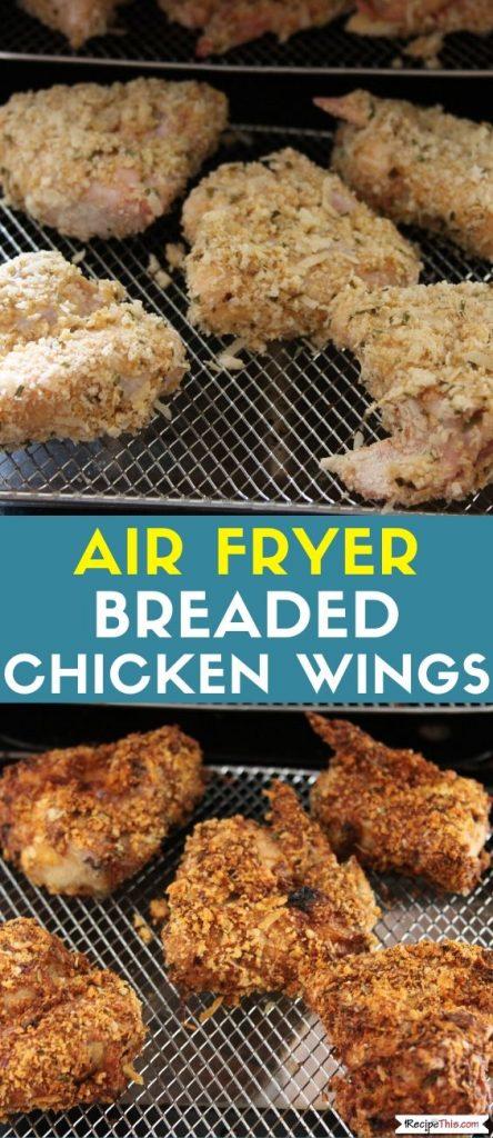 Air Fryer Breaded Chicken Wings Recipe