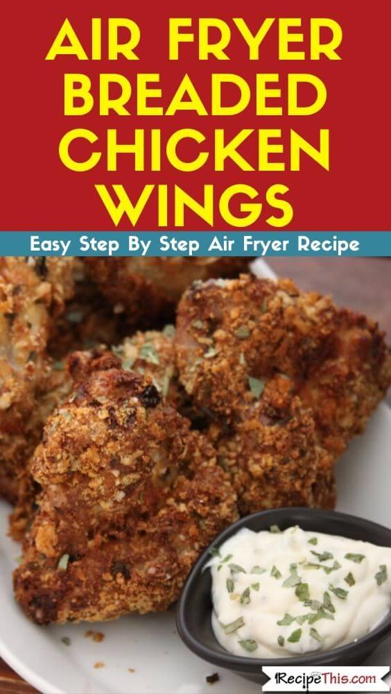 Air Fryer Breaded Chicken Wings