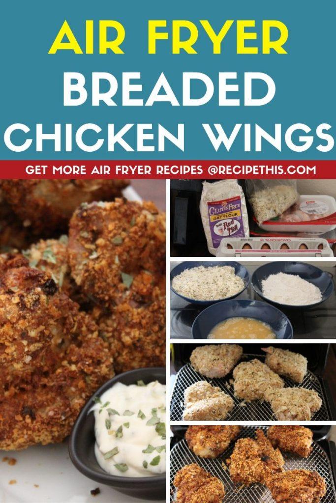 Air Fryer Breaded Chicken Wings step by step