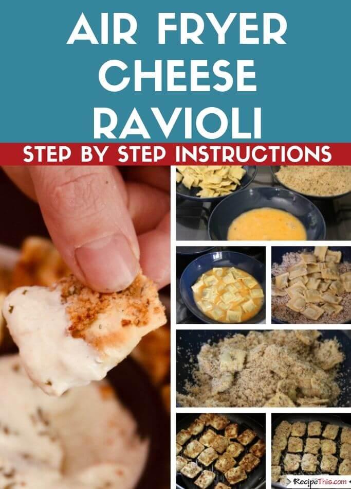 Air Fryer Cheese Ravioli Step By Step