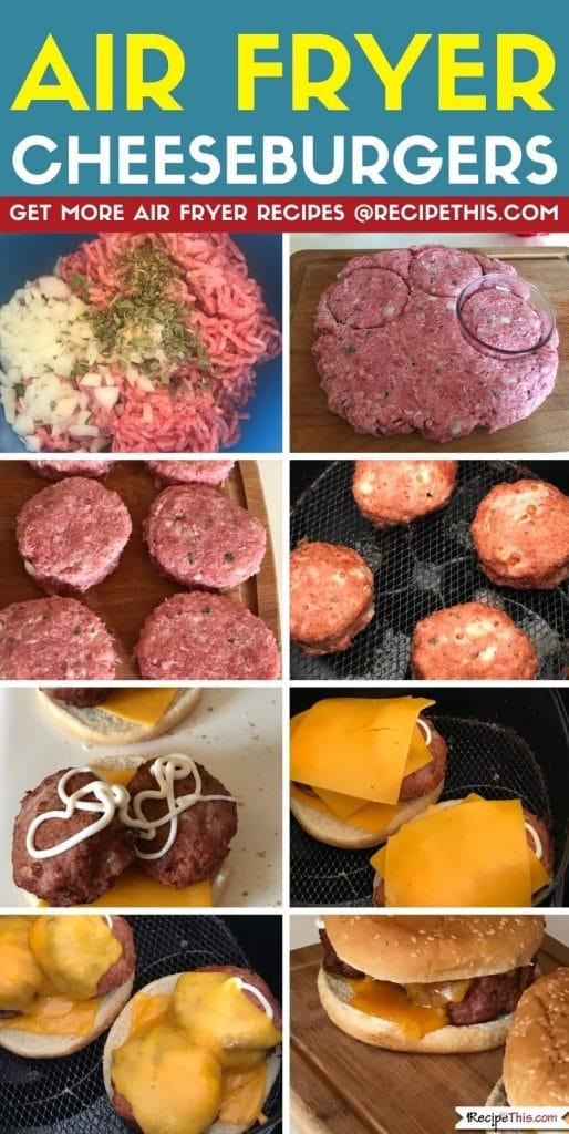 Air Fryer Cheeseburgers step by step