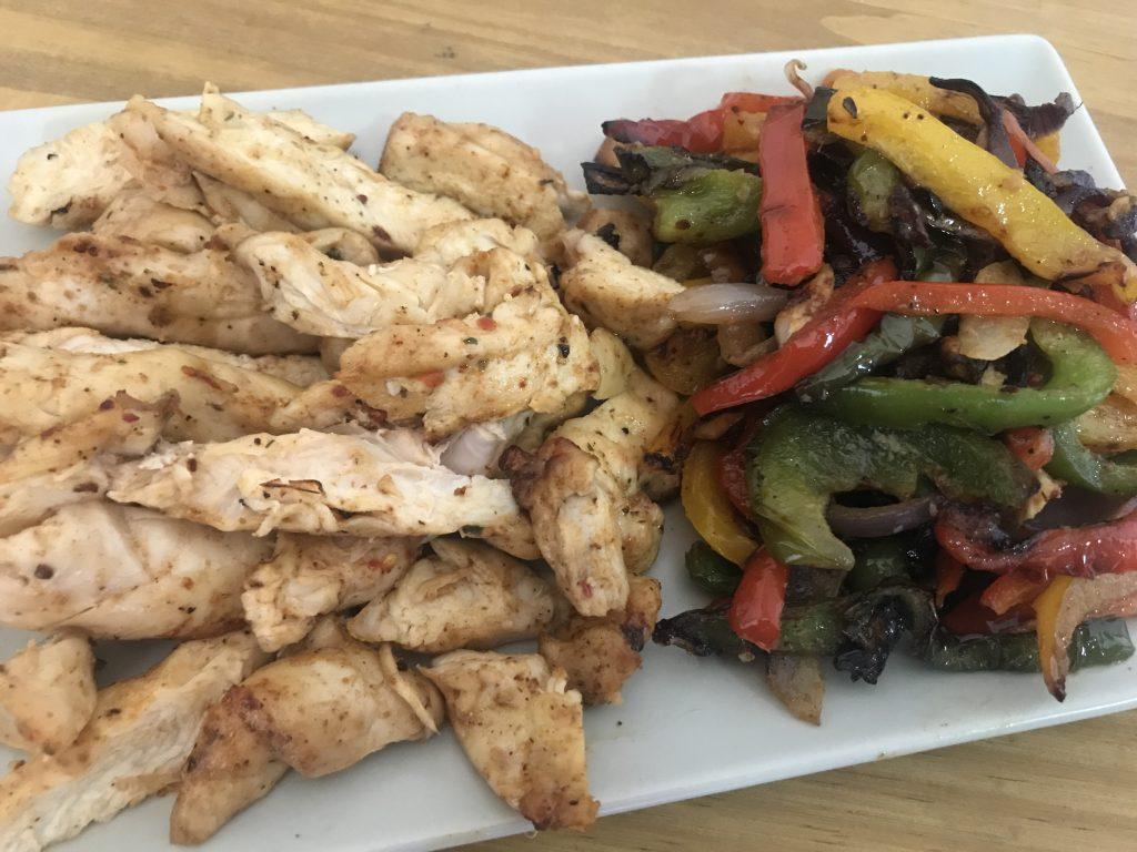 Air Fryer Chicken Fajitas Lunch