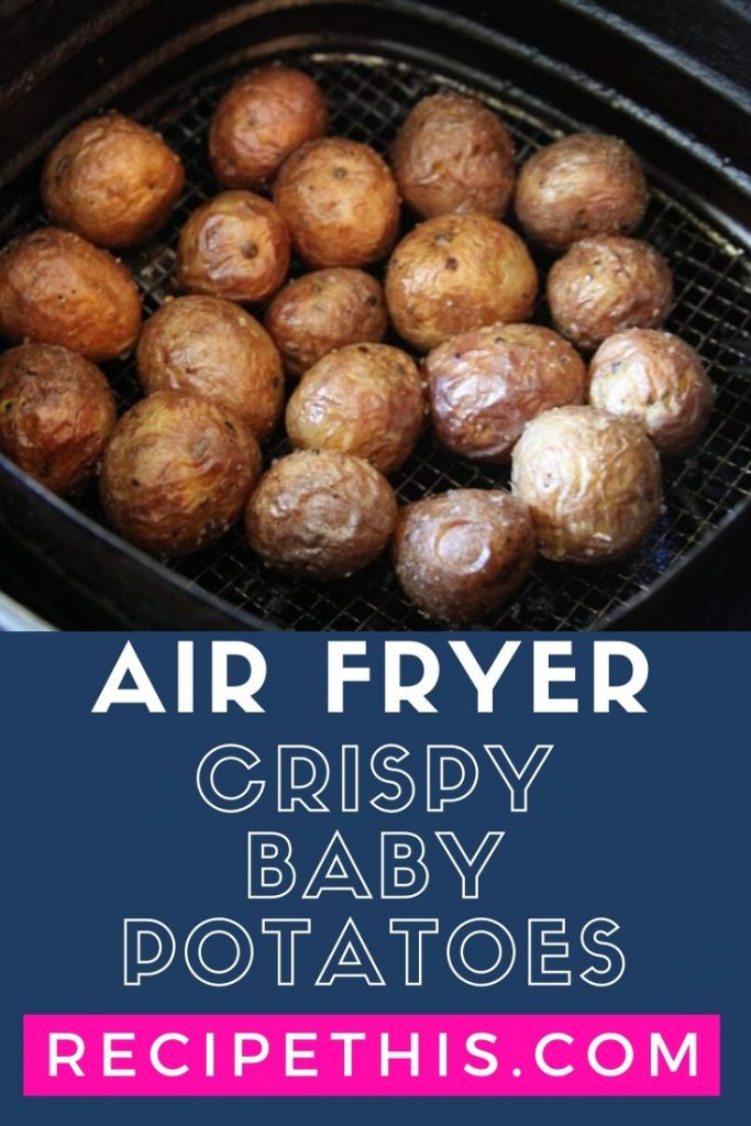 Air Fryer Crispy Baby Potatoes at recipethis.com