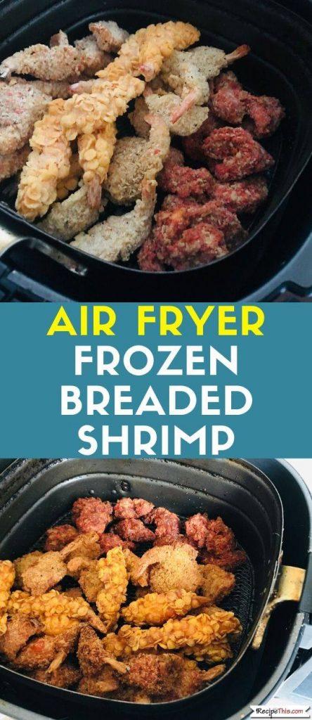 Air Fryer Frozen Breaded Shrimp recipe