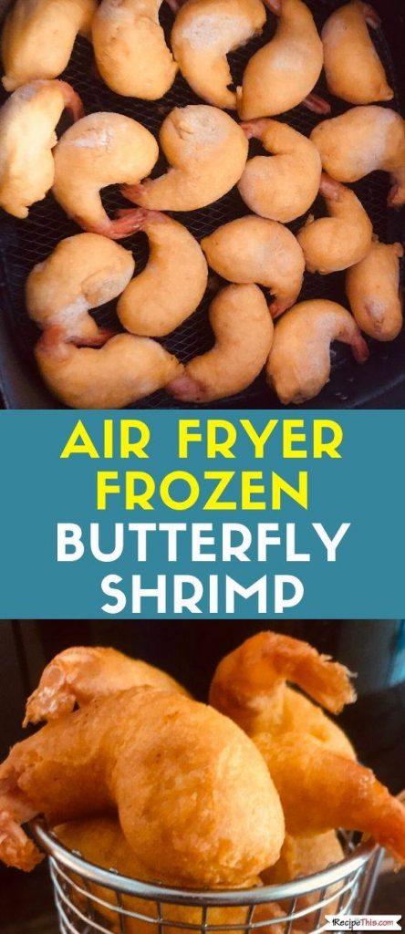 Air Fryer Frozen Butterfly Shrimp recipe