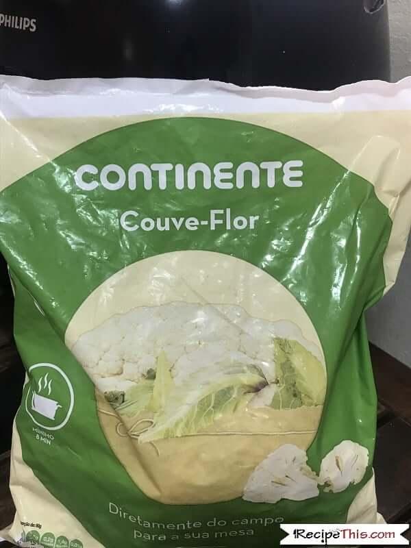 Air Fryer Frozen Cauliflower Ingredients