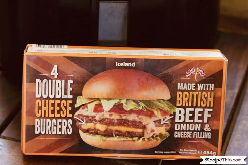 Air Fryer Frozen Cheese Burgers