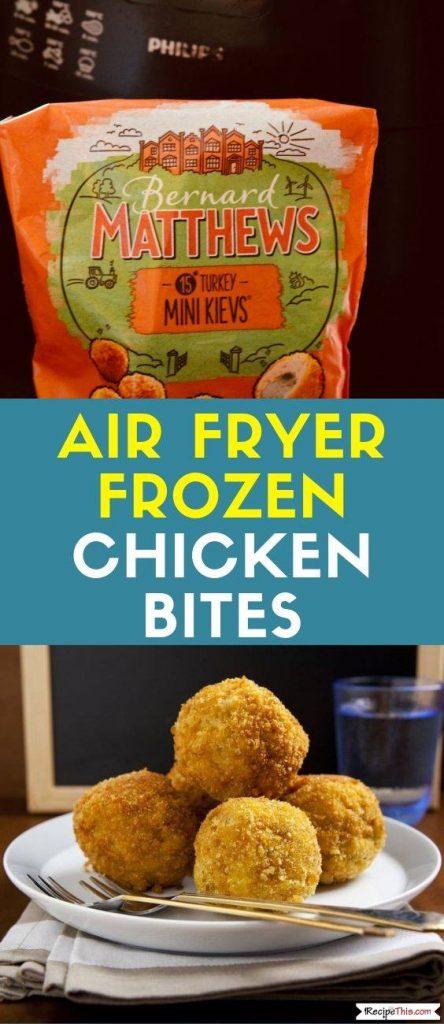 Air Fryer Frozen Chicken Bites recipe
