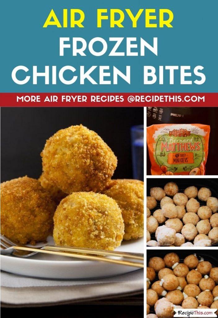 Air Fryer Frozen Chicken Bites step by step