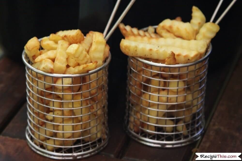 Air Fryer Frozen Crinkle Cut Fries for sharing