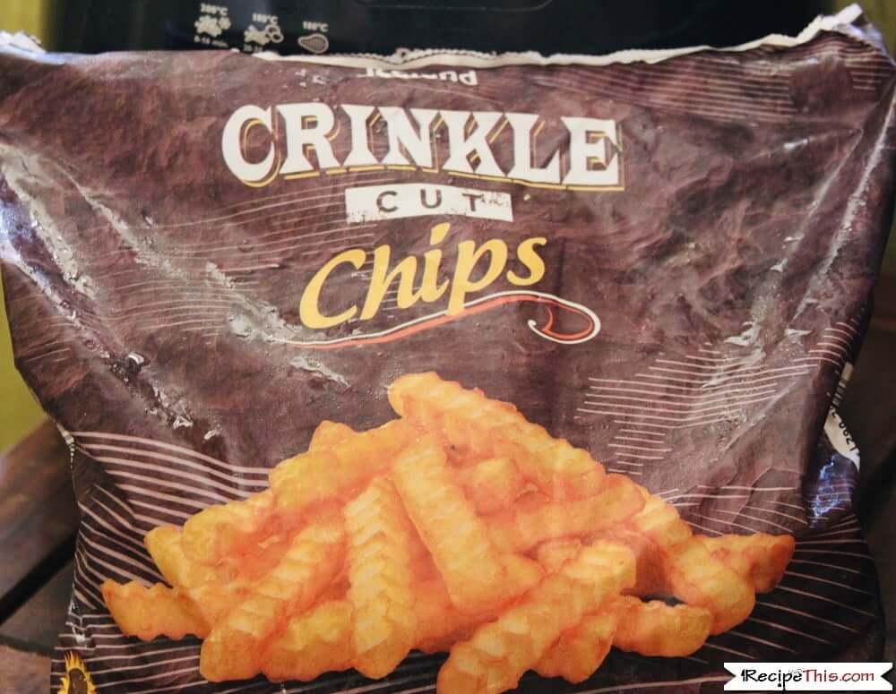 Air Fryer Frozen Crinkle Cut Fries in the bag