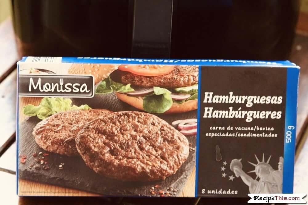 Air Fryer Frozen Hamburgers