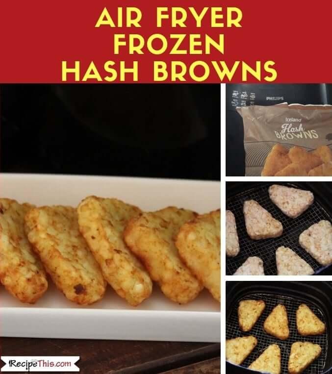 Air Fryer Frozen Hash Browns