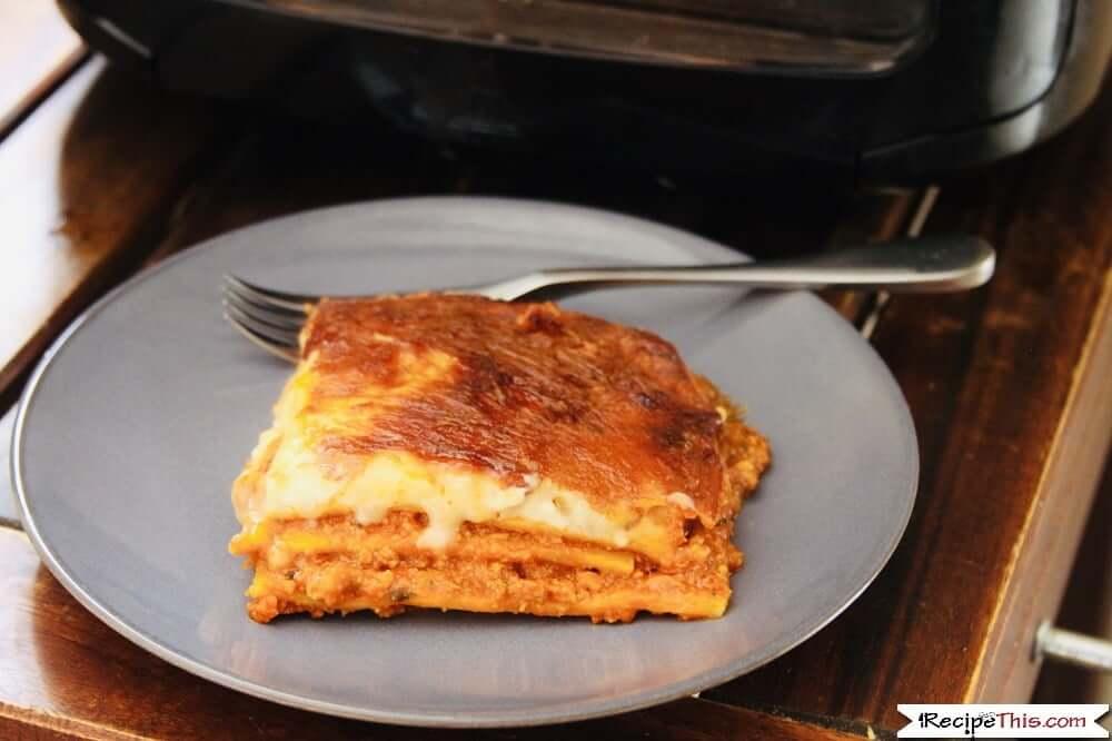 Air Fryer Frozen Lasagna