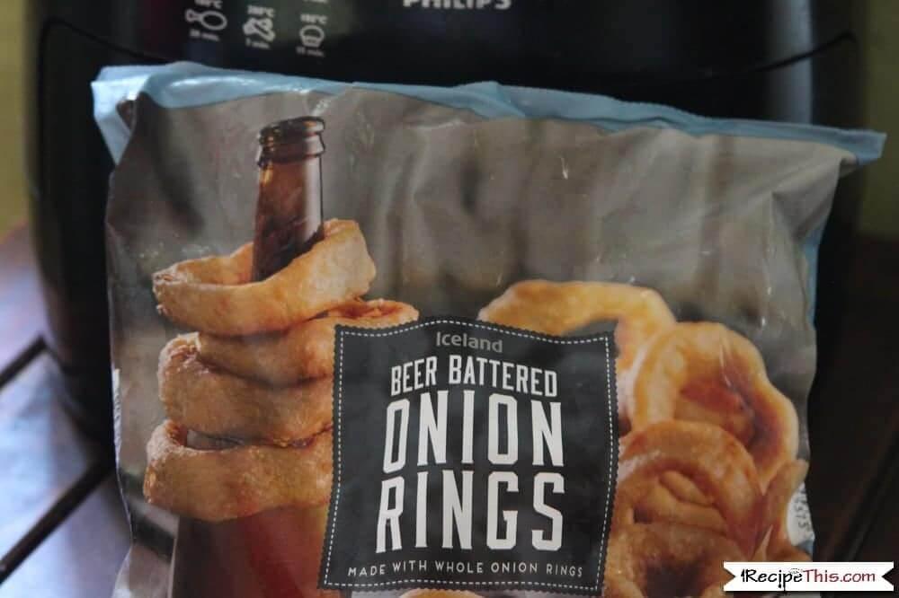 Air Fryer Frozen Onion Rings