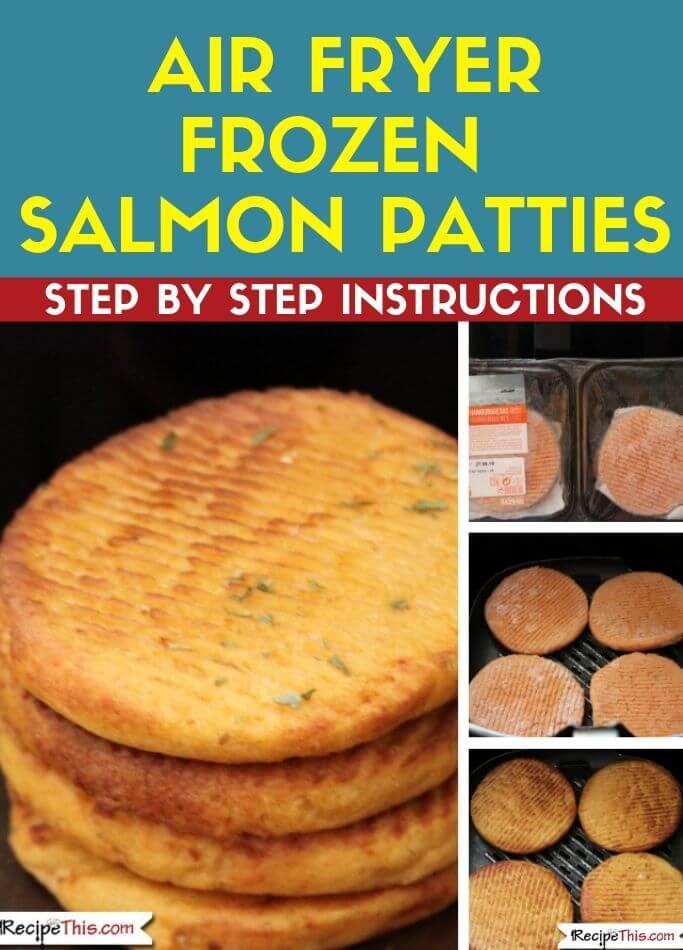 Air Fryer Frozen Salmon Patties step by step