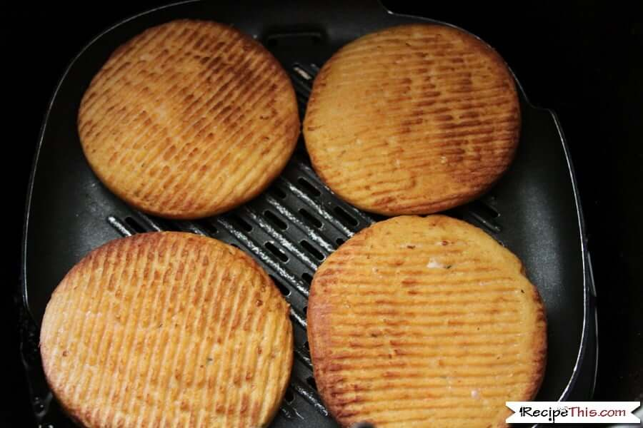 Air Fryer Frozen Salmon Patties