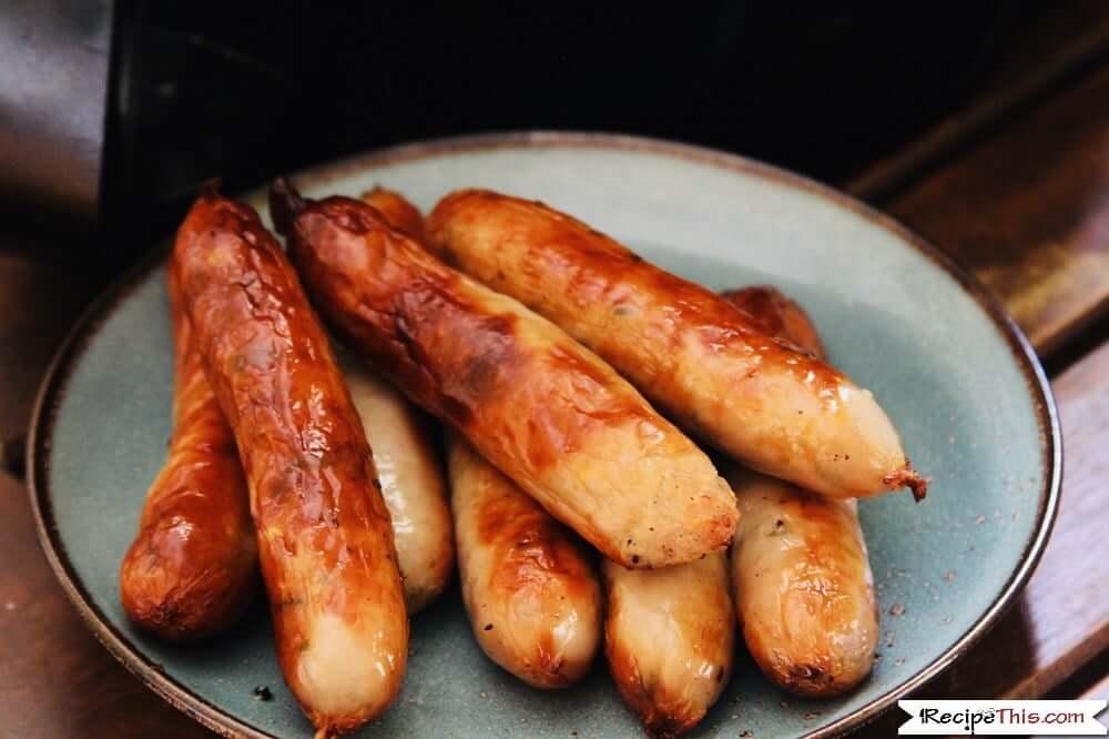 Air Fryer Frozen Sausage Links