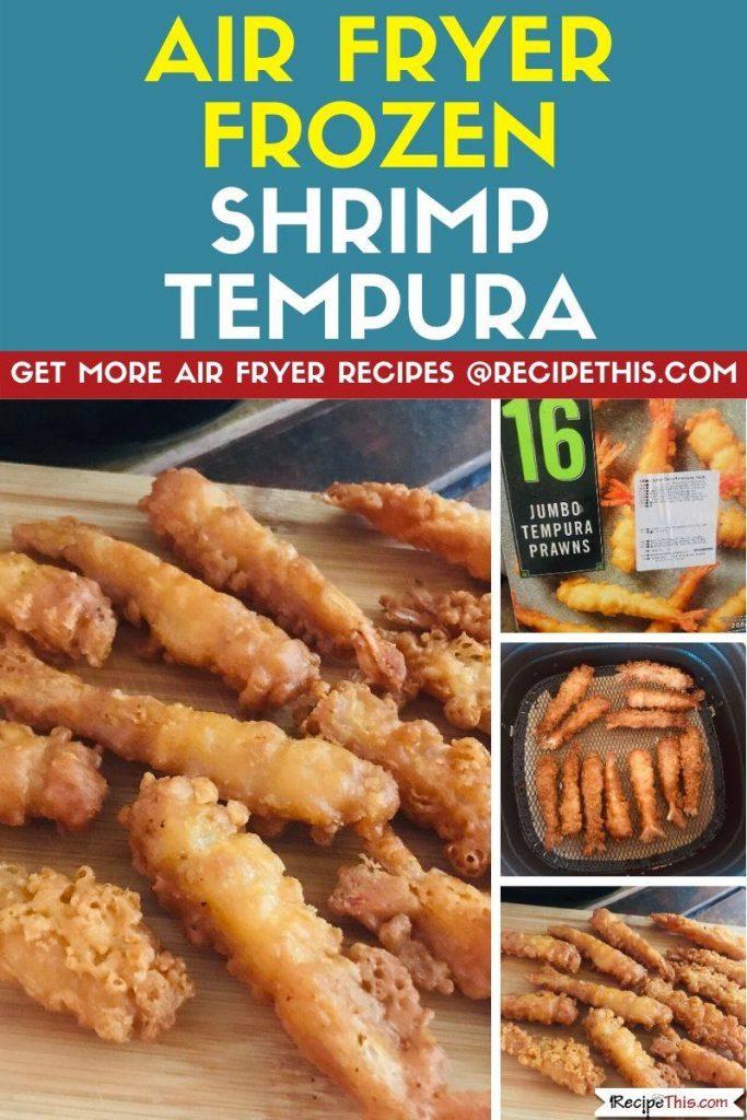 Air Fryer Frozen Shrimp Tempura step by step