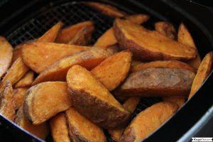 Air Fryer Frozen Sweet Potato Wedges