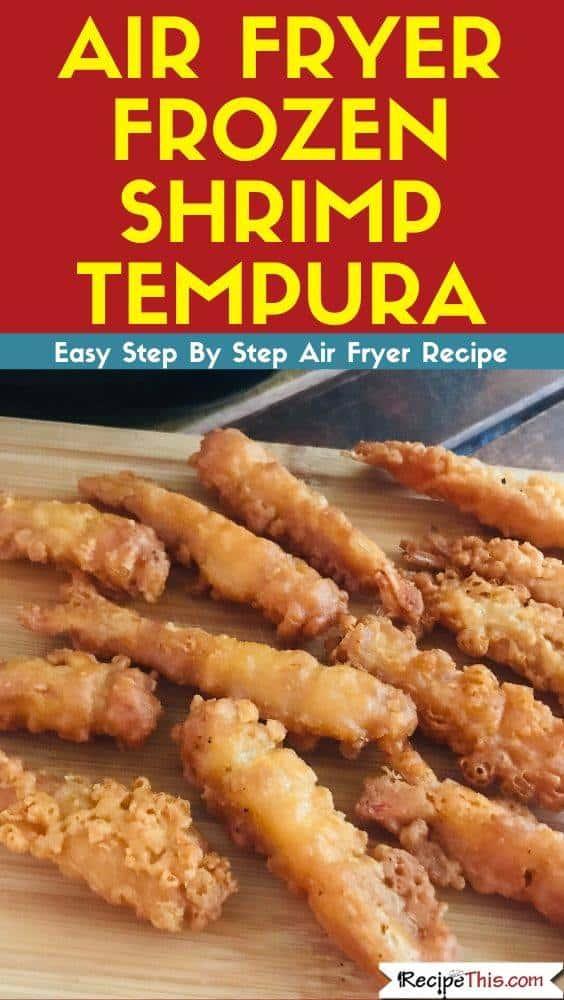 Air Fryer Frozen Tempura Shrimp