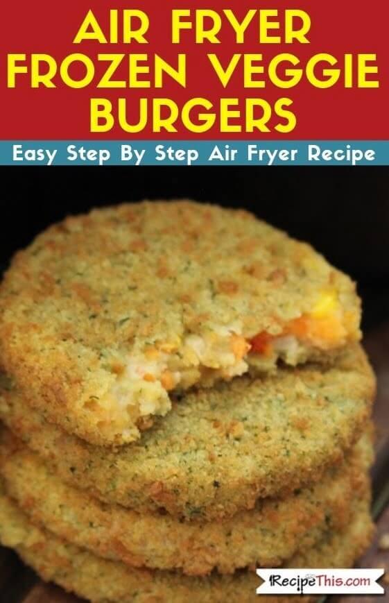 Air Fryer Frozen Veggie Burgers easy air fryer recipe