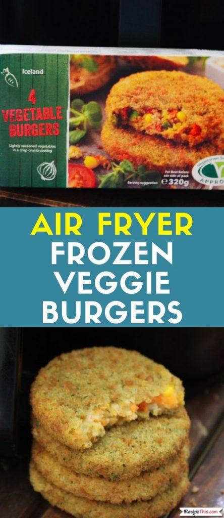 Air Fryer Frozen Veggie Burgers recipe
