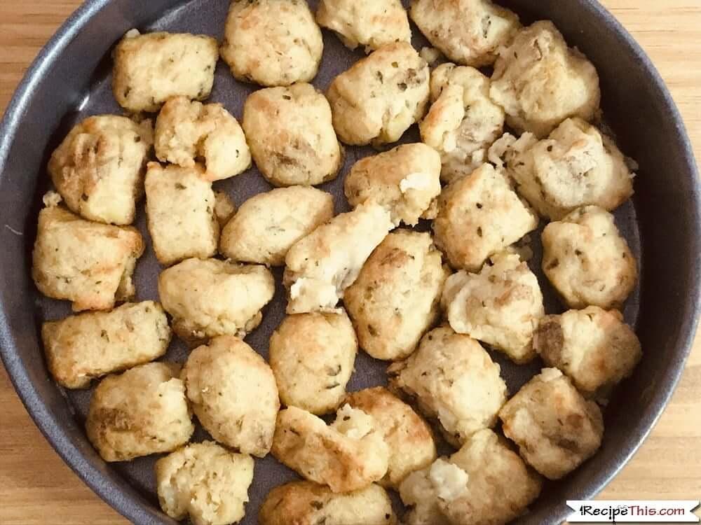 Air Fryer Gnocchi Casserole in cake pan