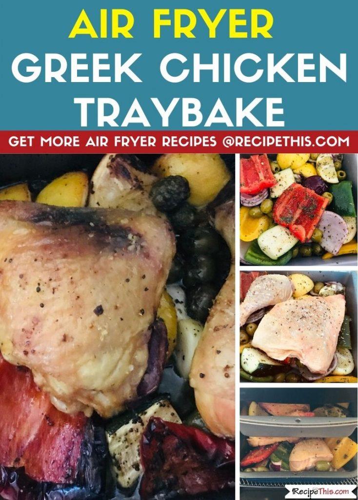 Air Fryer Greek Chicken Traybake step by step