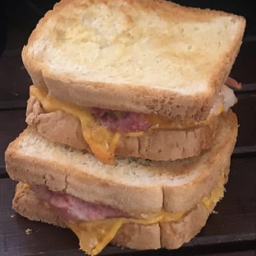 Air Fryer Ham & Cheese Sandwich